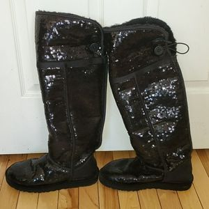Rare over the knee sequined ugg boots